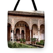 Water Gardens Of The Palace Of Generalife Tote Bag