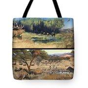 Water Hole Safari Tote Bag