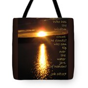 Water Jars Of Heaven Tote Bag