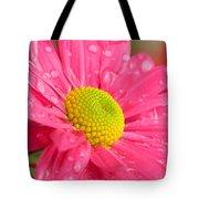 Water Kissed Pink Chrysanthemum  Tote Bag