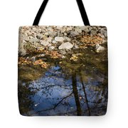 Water Leaves Stones And Branches Tote Bag