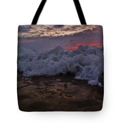 Water Level Surf Predawn 4 10/18 Tote Bag