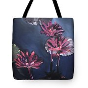 Water Lilies At Sunset Tote Bag