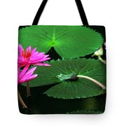 Water Lillies In Pink Tote Bag
