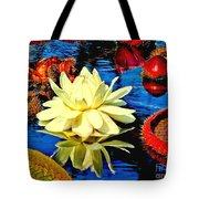Water Lilly Pond Tote Bag by Nick Zelinsky