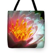 Water Lily In The Sun Tote Bag