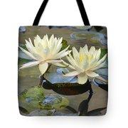 Water Lily Pair Tote Bag
