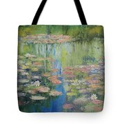 Water Lily Pond Tote Bag
