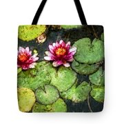 Water Lily Water Color Tote Bag