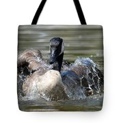Water Logged - Canadian Goose Tote Bag