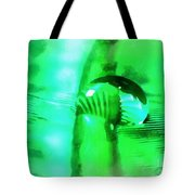 Water Meets Feather Tote Bag
