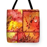 Water On Color Collage Eight Tote Bag