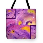 Water On Color Collage Five Tote Bag