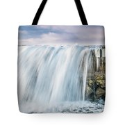 Water Over The Jetty Tote Bag