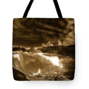 The Mighty Power Of The Falls Tote Bag
