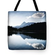 Water Reflection Blue Black And White Tote Bag