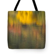 Water Reflections Abstract Autumn 2 C Tote Bag