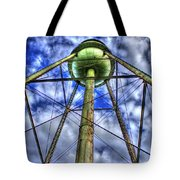 Mary Leila Cotton Mill Water Tower Art  Tote Bag