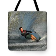 Water Skiing Magic Of Water 13 Tote Bag by Bob Christopher
