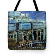 Water Slide At Dowdy's Amusement Park Tote Bag