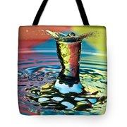 Water Splash Art Tote Bag