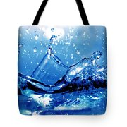 Water Splash Tote Bag by Michal Bednarek