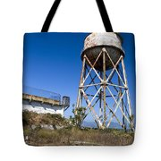 Water Tower Alcatraz Island Tote Bag