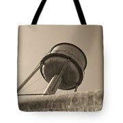 Water Tower In Deer Lodge Montana Tote Bag