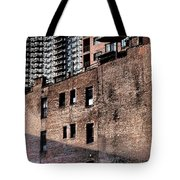 Water Tower With Cityscape Tote Bag