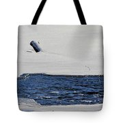 Water Trail Tote Bag