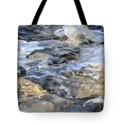 Water Under Ice Tote Bag