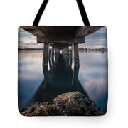 Water Under The Pier Tote Bag