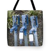 Water Water Water In Blue Tote Bag