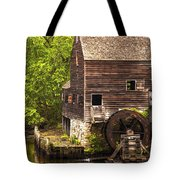 Water Wheel At Philipsburg Manor Mill House Tote Bag