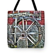 Water Wheel On Mill V2 Tote Bag