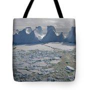 Water Worn Iceberg In Sea Ice Lazarev Tote Bag