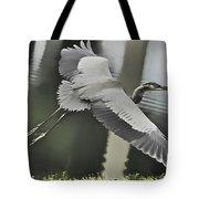 Waterbird Flying Tote Bag