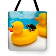 Waterbug Takes Yellow Taxi Tote Bag
