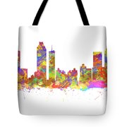 Watercolor Art Print Of The Skyline Of Atlanta Georgia Usa Tote Bag