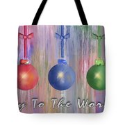 Watercolor Christmas Bulbs Tote Bag