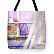 Purple Porch Tote Bag