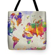 watercolor impression world map digital art by zaira dzhaubaeva. Black Bedroom Furniture Sets. Home Design Ideas