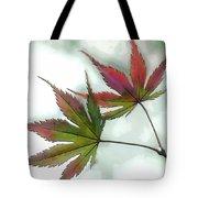 Watercolor Japanese Maple Leaves Tote Bag