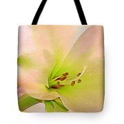 Watercolor Lily Bloom Tote Bag