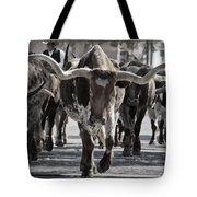 Watercolor Longhorns Tote Bag