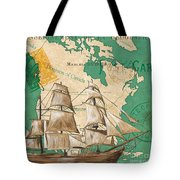 Watercolor Map 2 Tote Bag by Debbie DeWitt