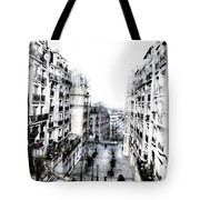 Watercolor Montmartre Tote Bag