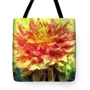 Watercolor Of Dreamy Dahlia Tote Bag