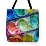 Watercolor Ovals Two Tote Bag