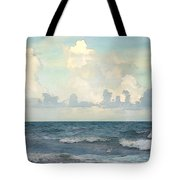 Watercolor Photograph Of Atlantic Ocean Tote Bag
